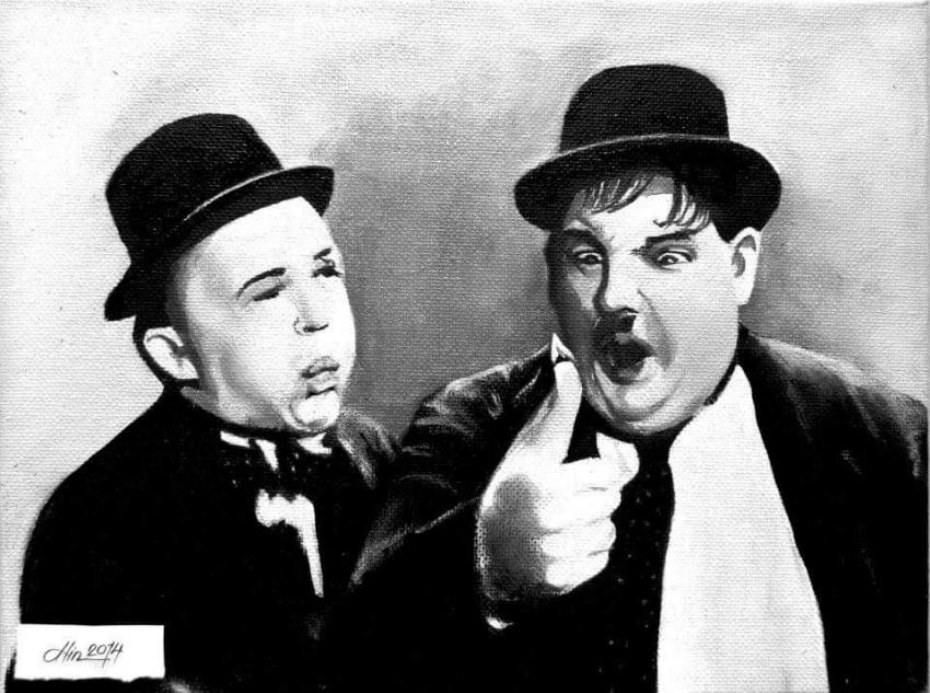Stan Laurel, Oliver Hardy by alinbota